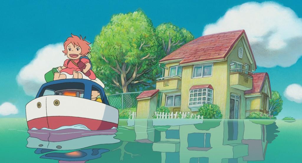 Sosuke y Ponyo en barca
